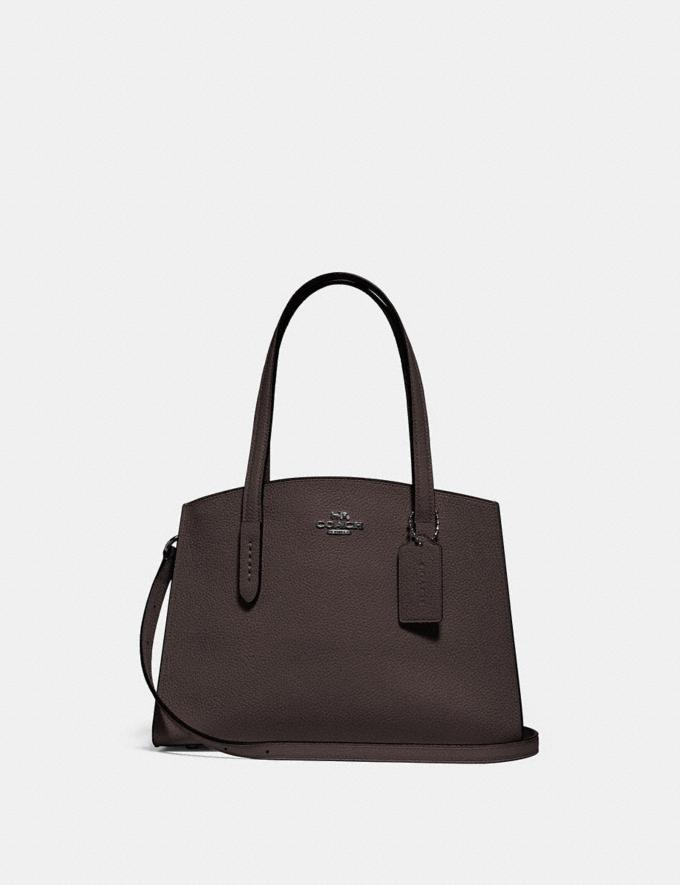 Coach Charlie Carryall 28 Gunmetal/Oxblood Cyber Monday