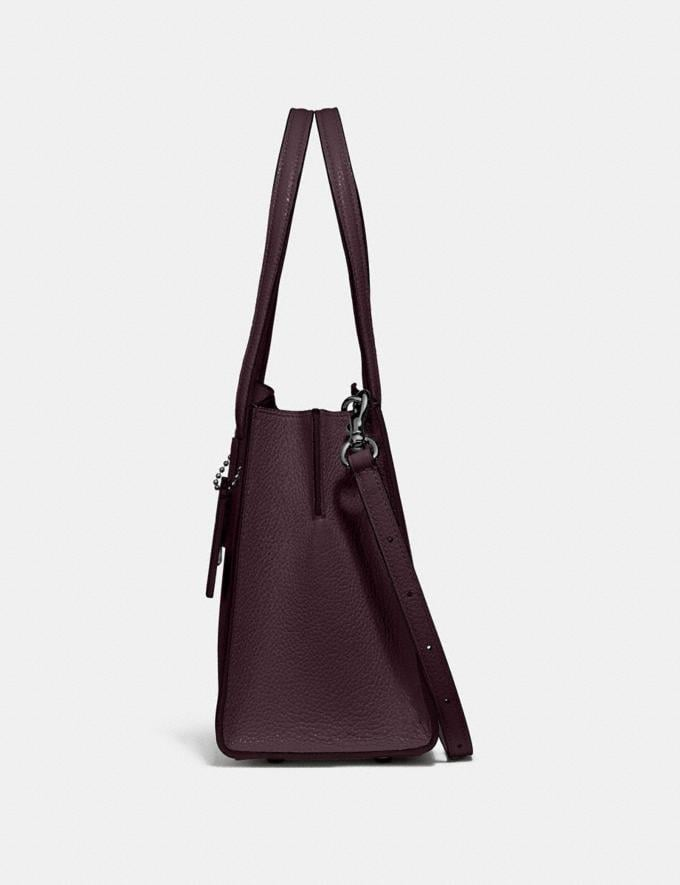 Coach Charlie Carryall 28 Gunmetal/Oxblood New Featured 30% off (and more) Alternate View 1