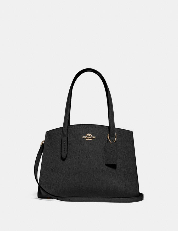 Coach Charlie Carryall 28 Black/Light Gold Customization For Her The Monogram Shop