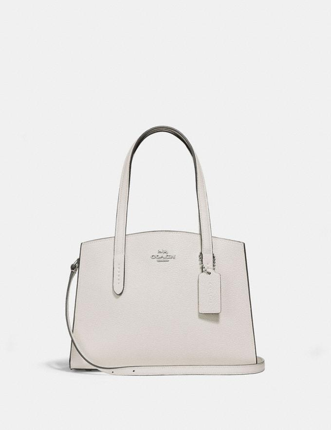 Coach Charlie Carryall 28 Sv/Chalk Women Bags Satchels