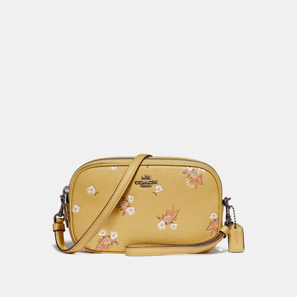 Coach Sadie Crossbody Clutch With Floral Bow Print