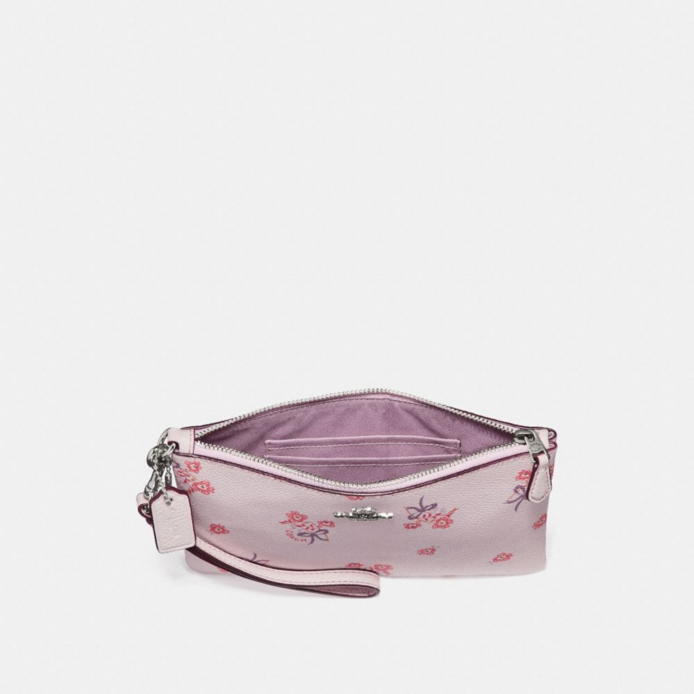 Coach Small Wristlet With Floral Bow Print Alternate View 1