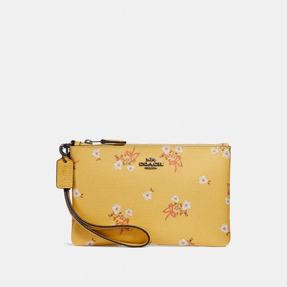 Coach Small Wristlet With Floral Bow Print