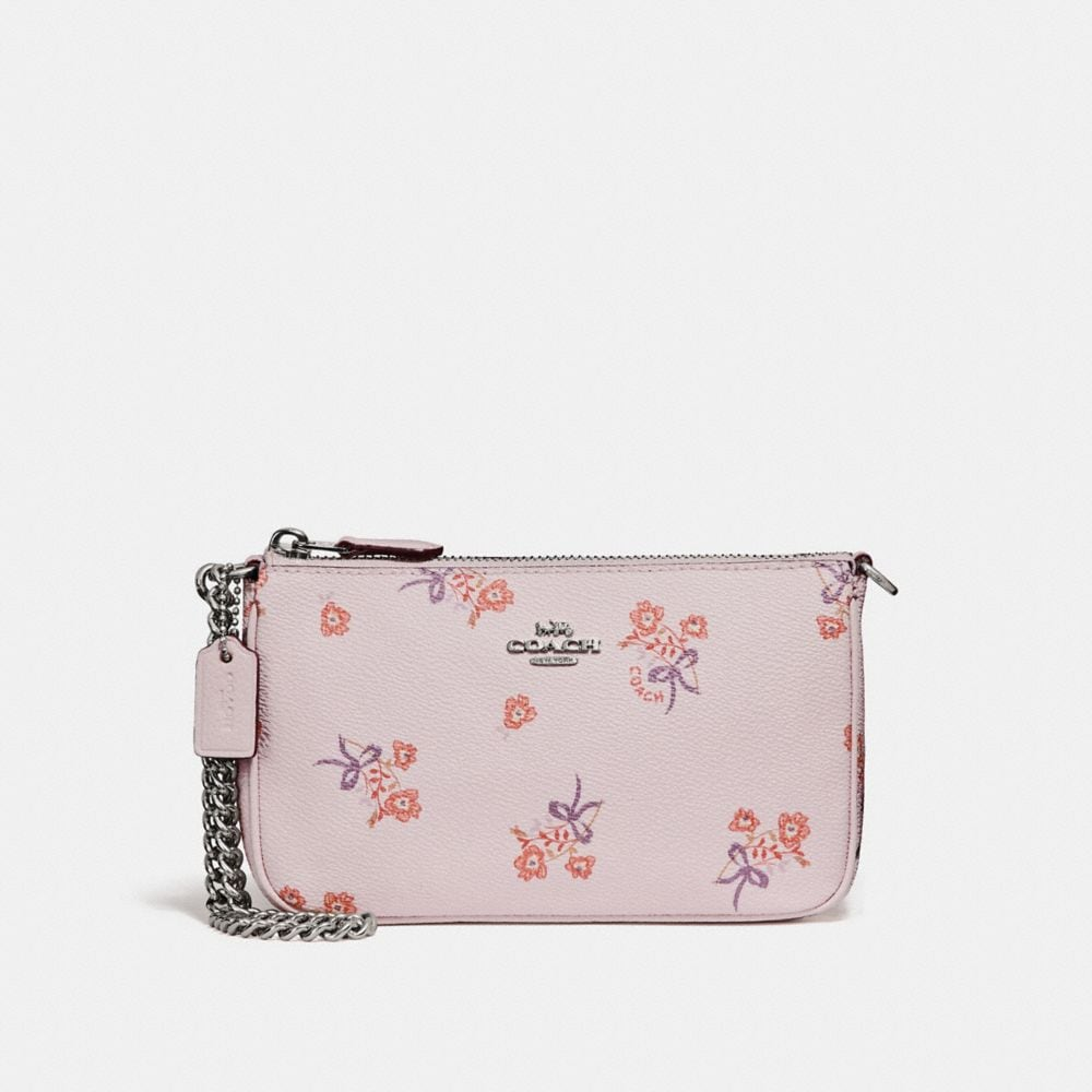 Coach Nolita Wristlet 19 With Floral Bow Print