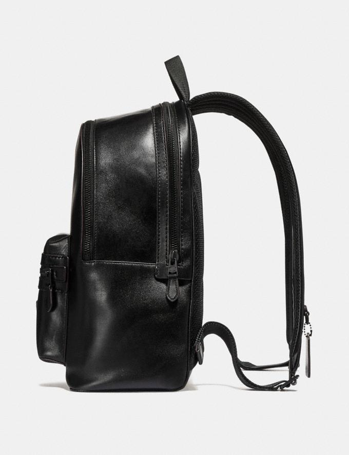 Coach Academy Backpack Black/Matte Black SALE Men's Sale Alternate View 1