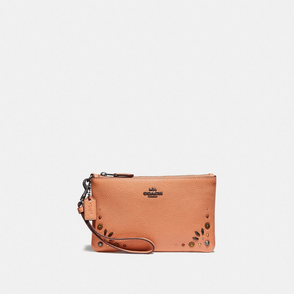 Coach Small Wristlet With Prairie Rivets