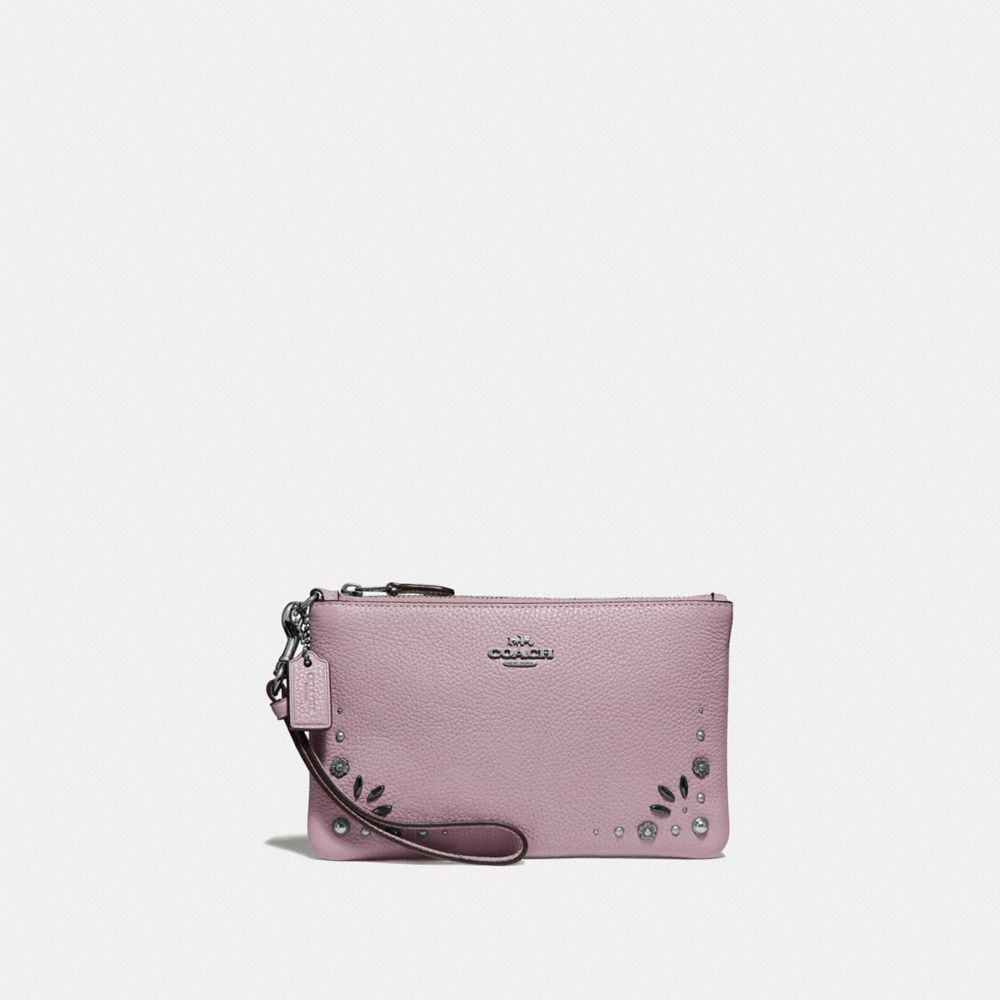small wristlet with prairie rivets detail
