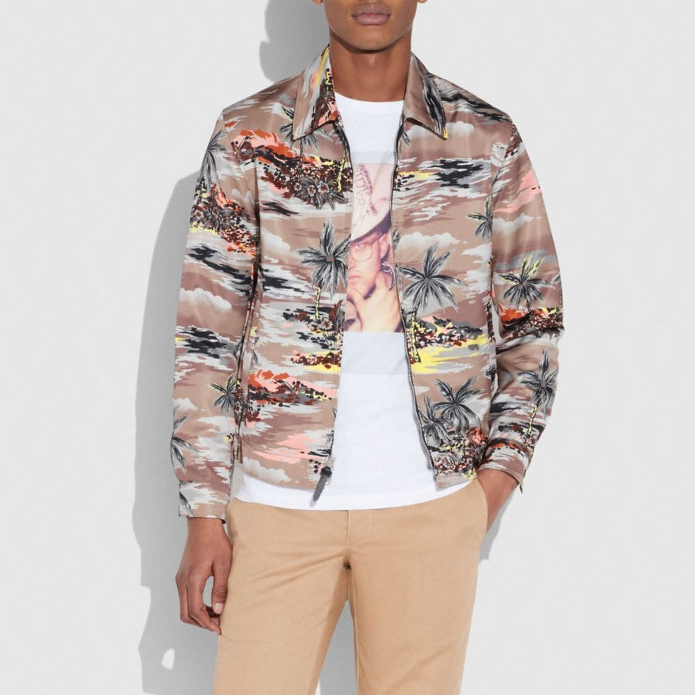 HAWAIIAN PRINT SKATER JACKET