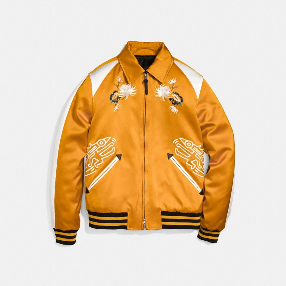 Coach Coach X Keith Haring Skater Souvenir Varsity Jacket