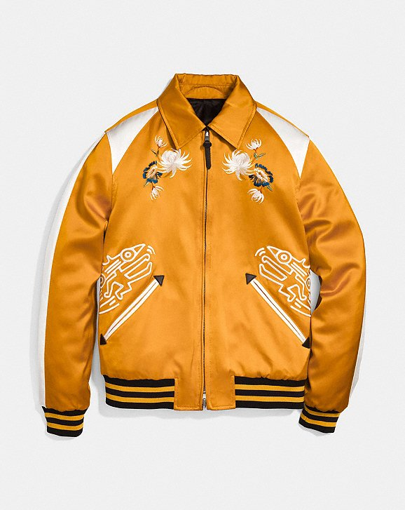 Outlet Discount Authentic Coach X Keith Haring varsity jacket Pay With Paypal For Sale Inexpensive Sale Online sJWCAOl