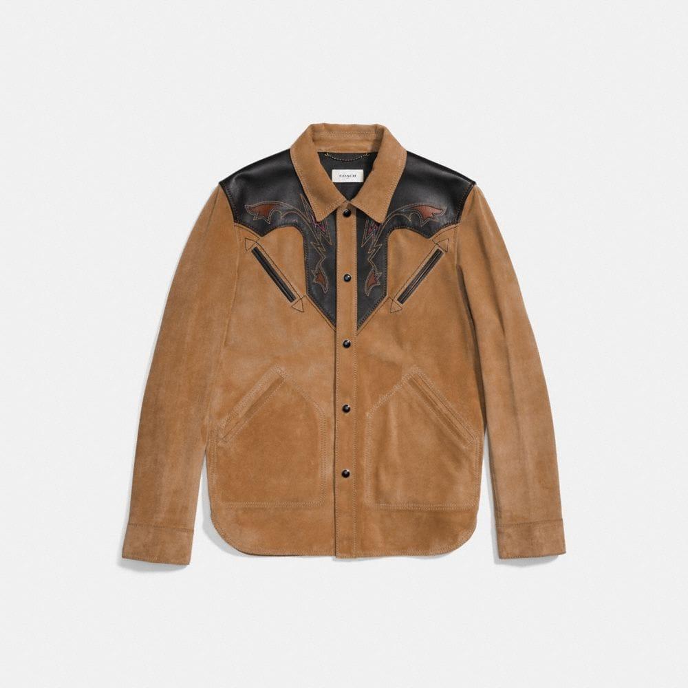 Coach Suede Western Jacket