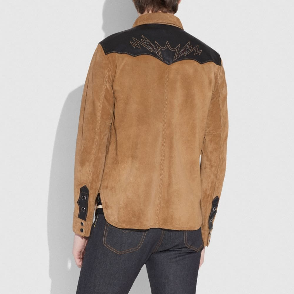 Coach Suede Western Jacket Alternate View 2