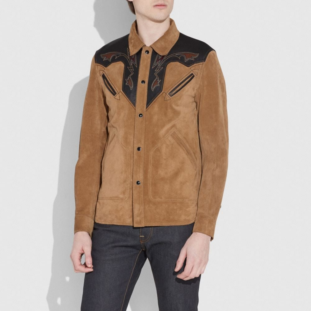 Coach Suede Western Jacket Alternate View 3