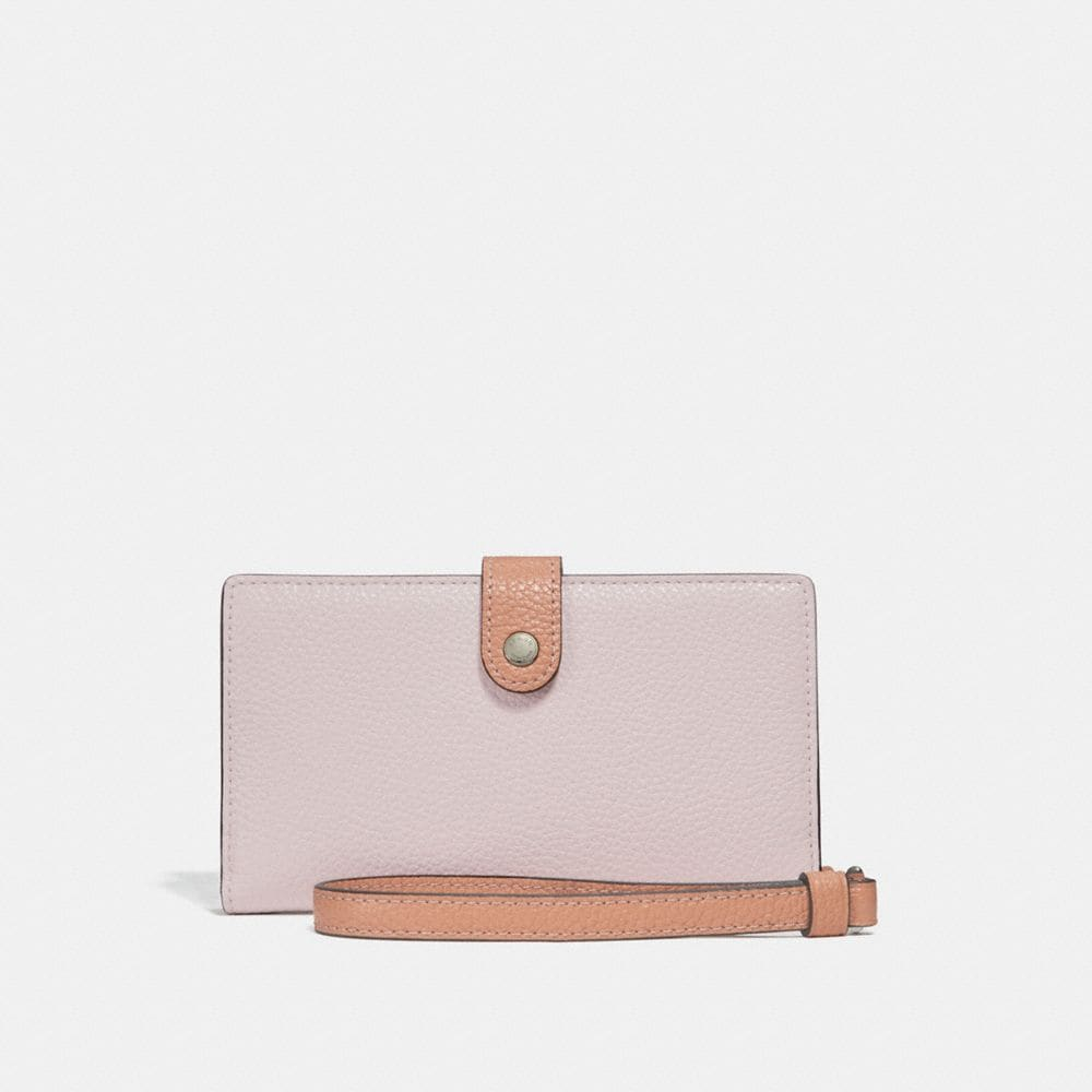 Coach Phone Wristlet in Colorblock With Printed Interior