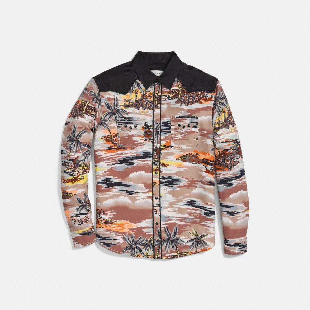 Coach Hawaiian Print Western Shirt