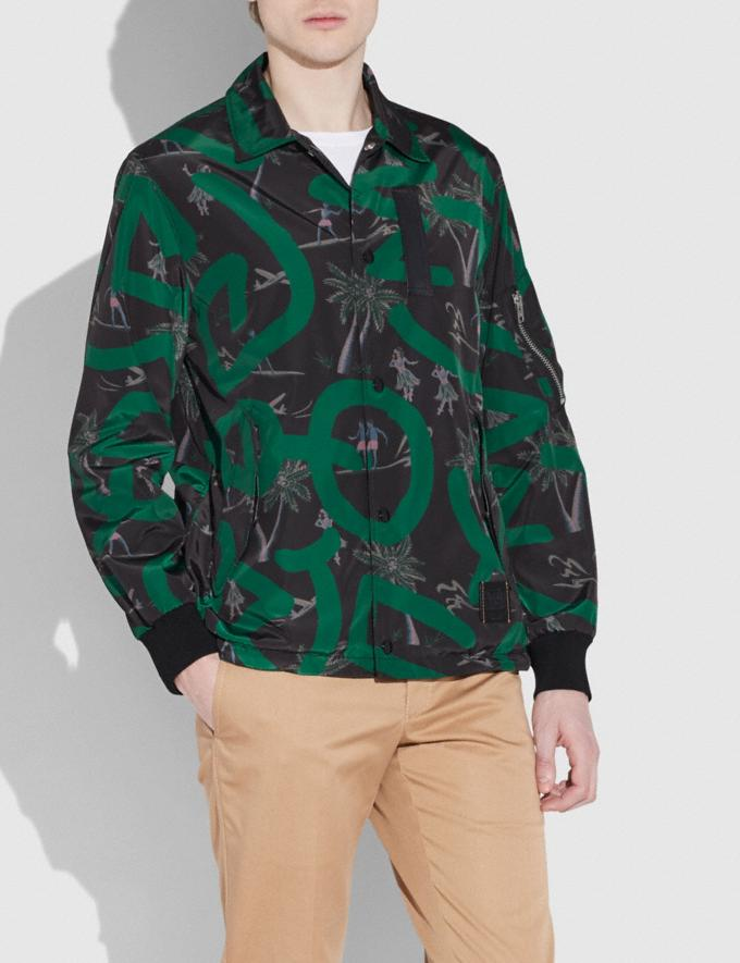 Coach Coach X Keith Haring Jacket Keith Haring Hula Dance Black Green Men Ready-to-Wear Coats & Jackets Alternate View 1