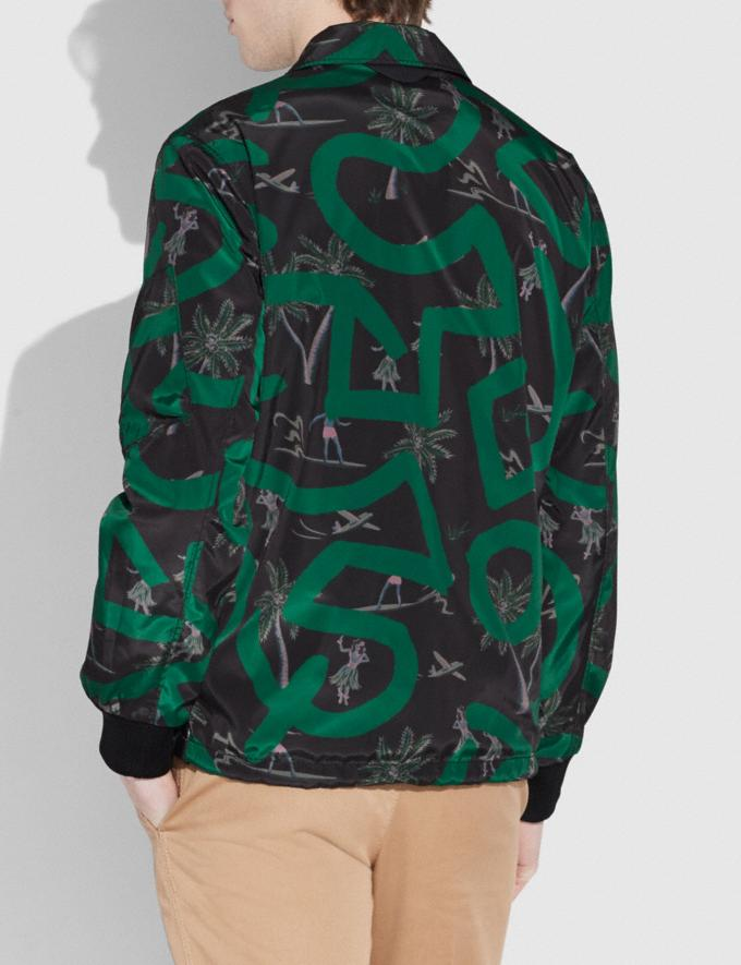 Coach Coach X Keith Haring Jacket Keith Haring Hula Dance Black Green Men Ready-to-Wear Coats & Jackets Alternate View 2