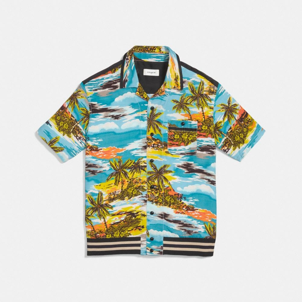 COLLEGE-BOWLING-SHIRT MTI HAWAII-PRINT