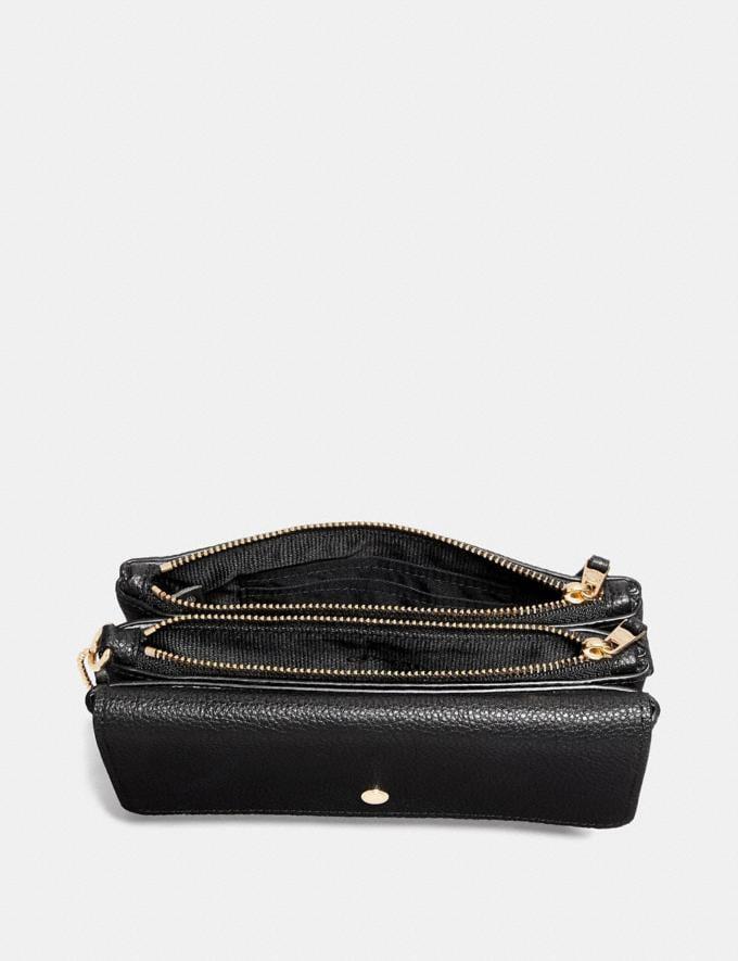 Coach Triple Small Wallet Blossom/Gold Women Wallets & Wristlets Wristlets Alternate View 1