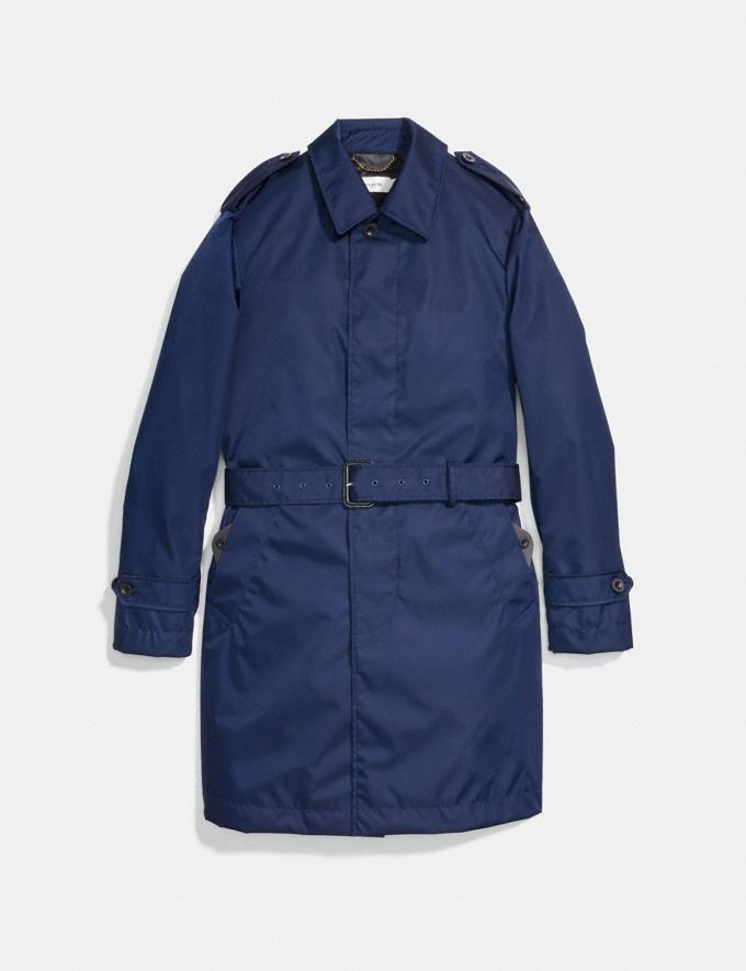 Coach Overcoat Cadet Blue Men Ready-to-Wear Coats & Jackets