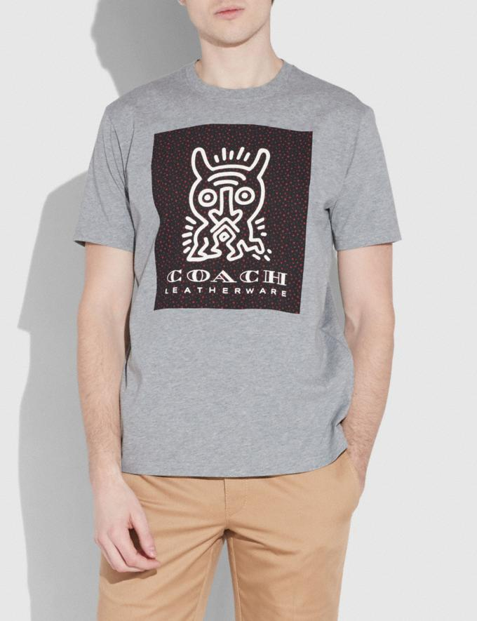Coach Coach X Keith Haring T-Shirt Heather Grey Men Ready-to-Wear Tops & Bottoms Alternate View 1
