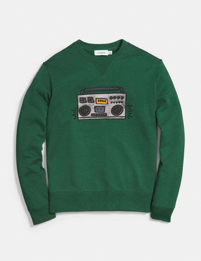 Coach Coach X Keith Haring Sweatshirt Emerald  Alternate View 1