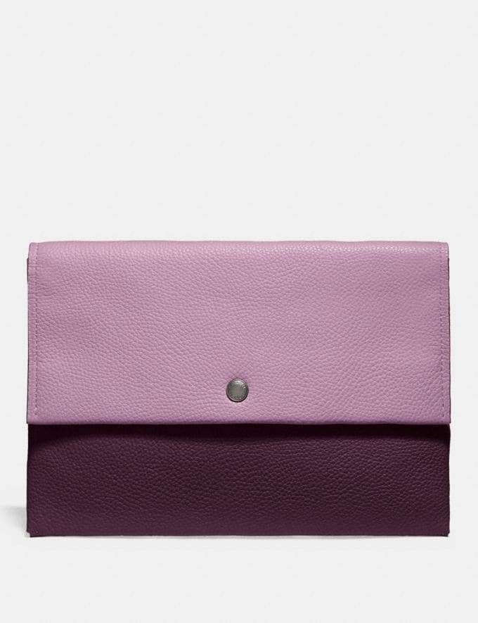 Coach Envelope Pouch in Colorblock Silver/Ice Pink Multi DEFAULT_CATEGORY