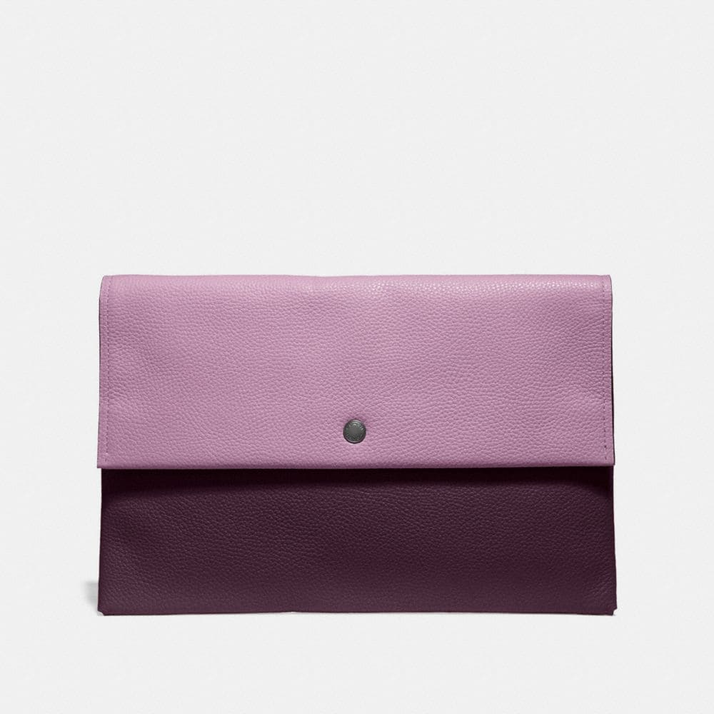 Coach Large Envelope Pouch in Colorblock