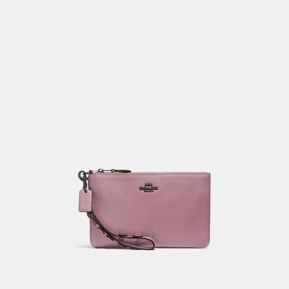 Coach Small Wristlet With Hearts