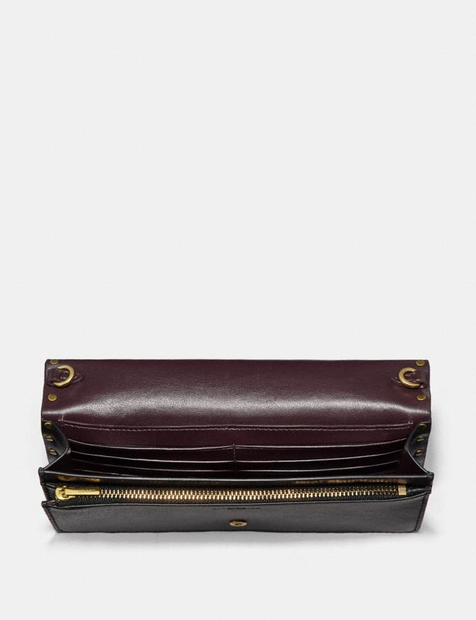 Coach Hayden Foldover Crossbody Clutch With Rivets Brass/Midnight Navy SALE Victoria Day Sale Women's Alternate View 2