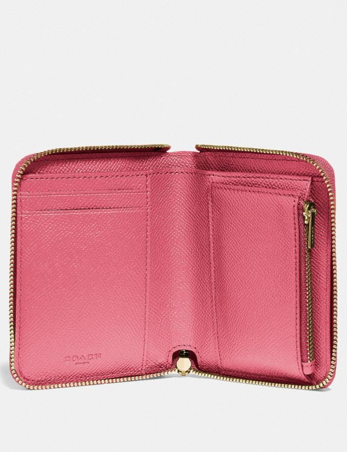 Coach Small Zip Around Wallet Li/Black Women Small Leather Goods Small Wallets Alternate View 2
