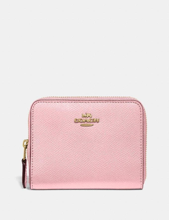 Coach Small Zip Around Wallet Blossom/Gold