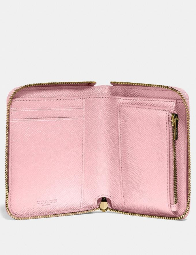 Coach Small Zip Around Wallet Blossom/Gold  Alternate View 1