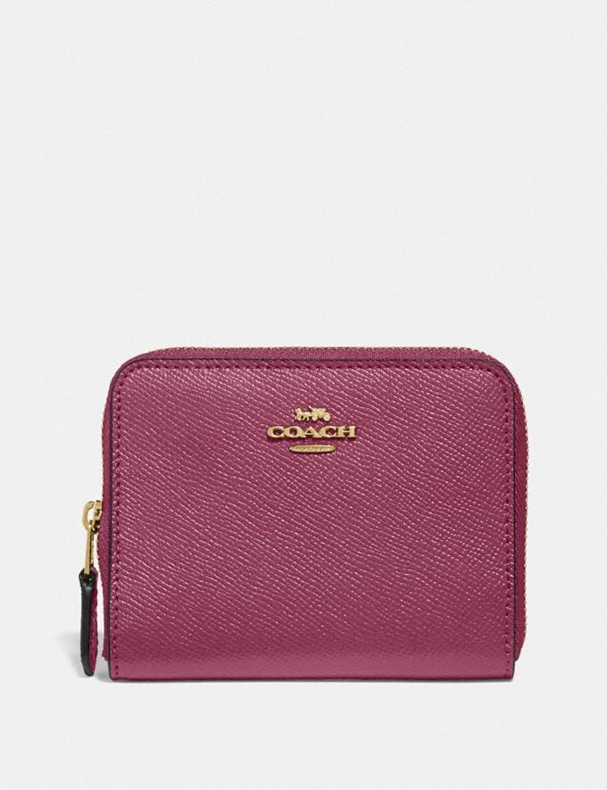 Coach Small Zip Around Wallet Gd/Dusty Pink Gifts Holiday Shop Stocking Fillers For Her