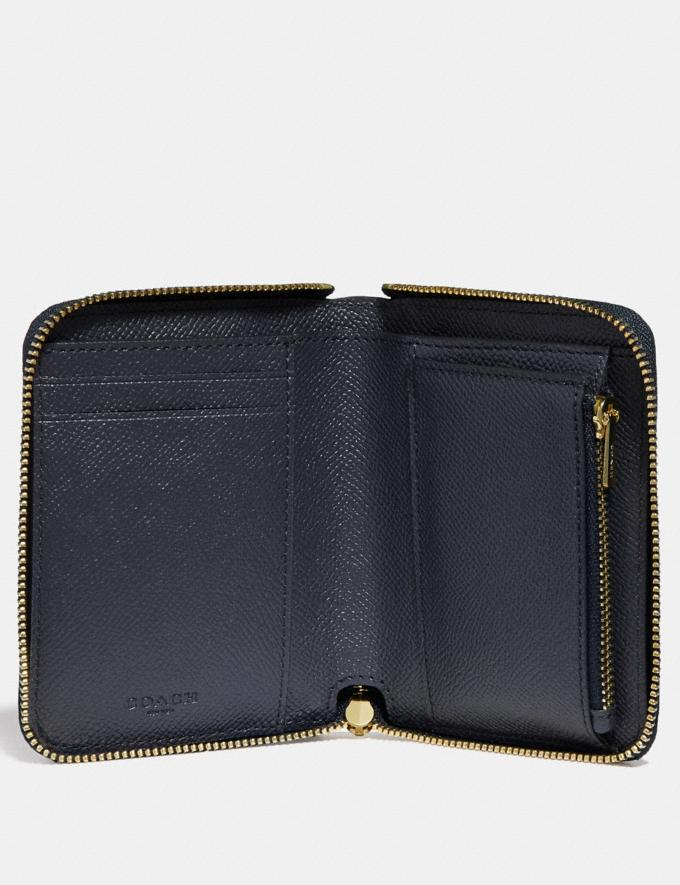 Coach Small Zip Around Wallet Li/Navy Women Small Leather Goods Small Wallets Alternate View 1