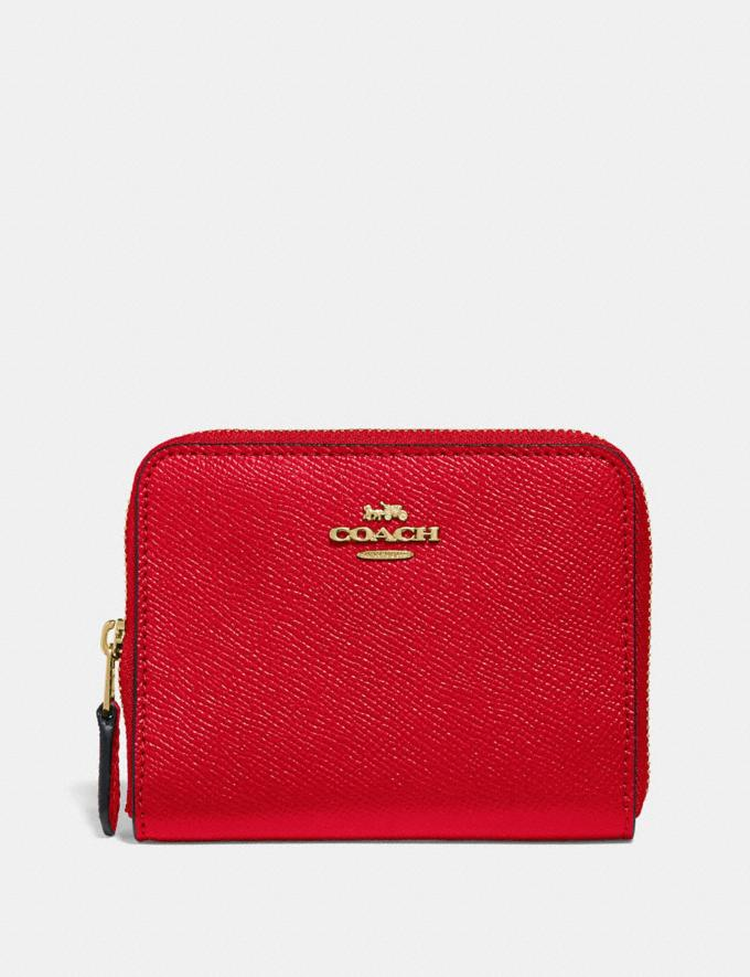 Coach Small Zip Around Wallet Jasper/Light Gold CYBER MONDAY SALE Women's Sale Wallets & Wristlets