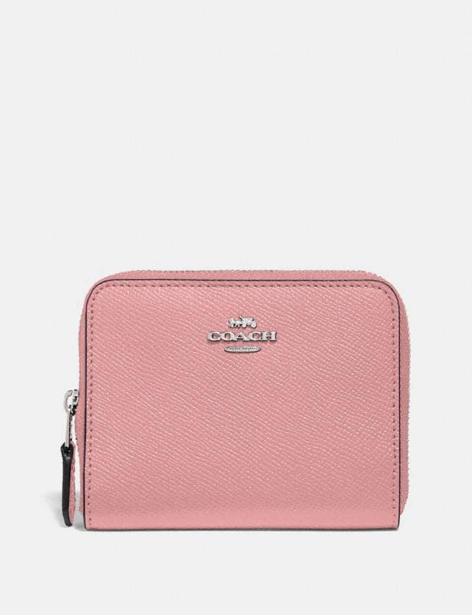 Coach Kleines Portemonnaie Mit Rundum-Reissverschluss Pink Geschenk Für sie