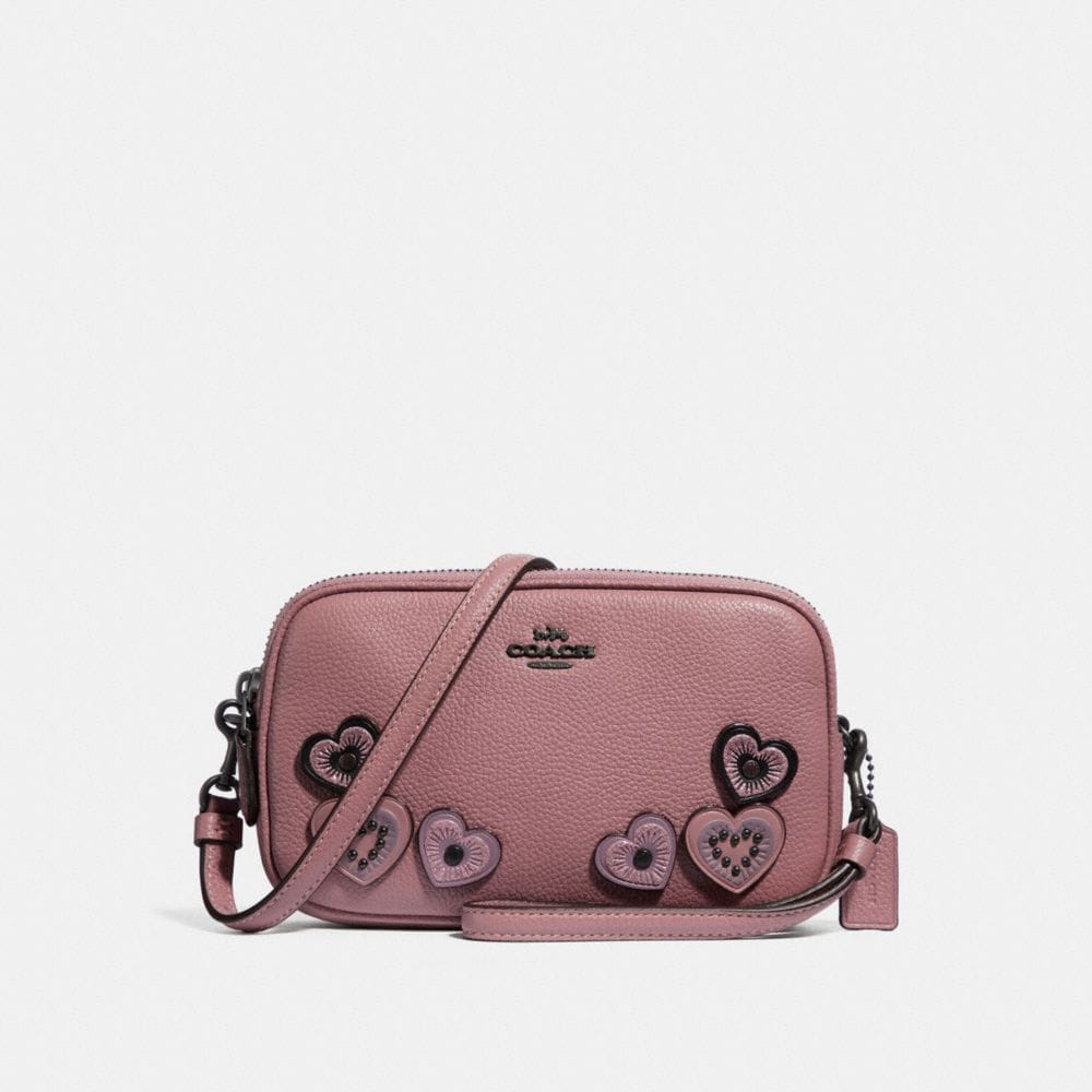 CROSSBODY CLUTCH WITH HEARTS