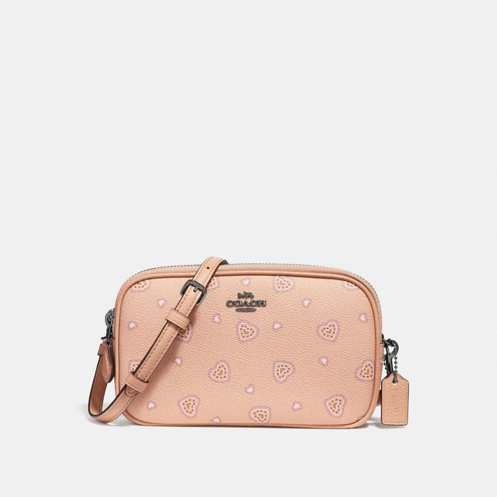 crossbody clutch with western heart print