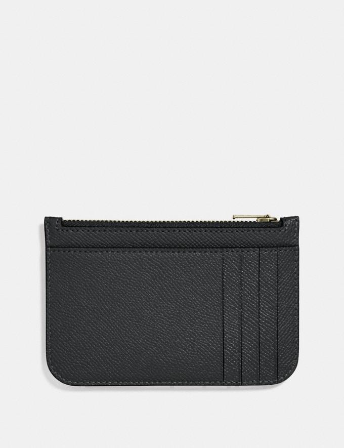 Coach Zip Card Case Black/Light Gold  Alternate View 1