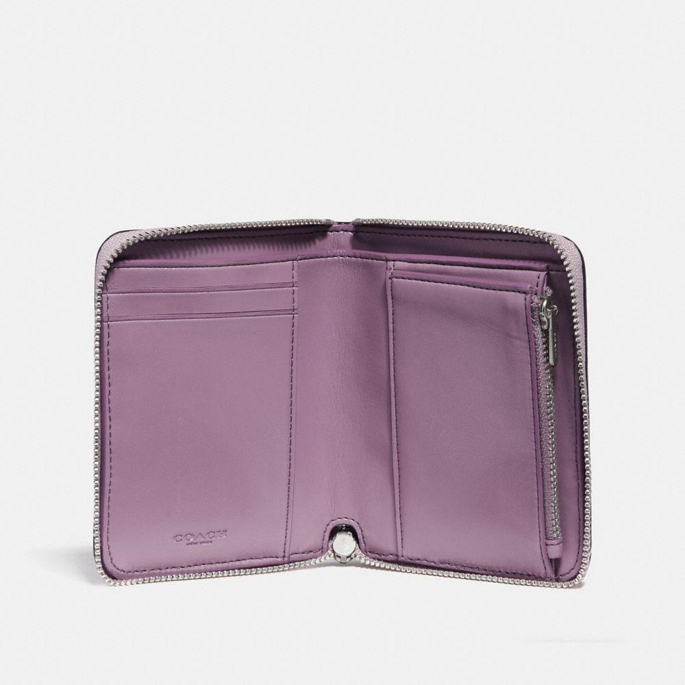 Coach Small Zip Around Wallet With Prairie Rivets Detail Alternate View 1