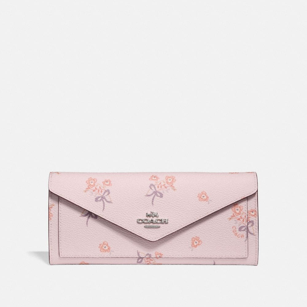 soft wallet with floral bow print