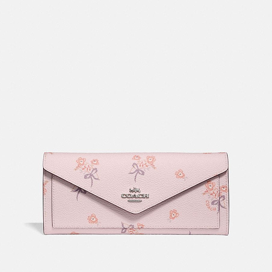 Coach Soft Wallet With Floral Bow Print