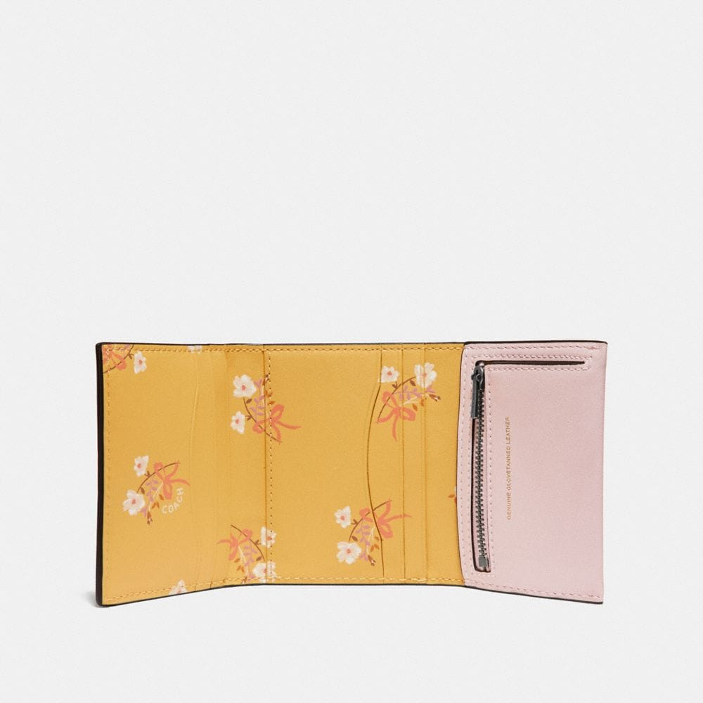 Coach Small Trifold Wallet in Colorblock Alternate View 1
