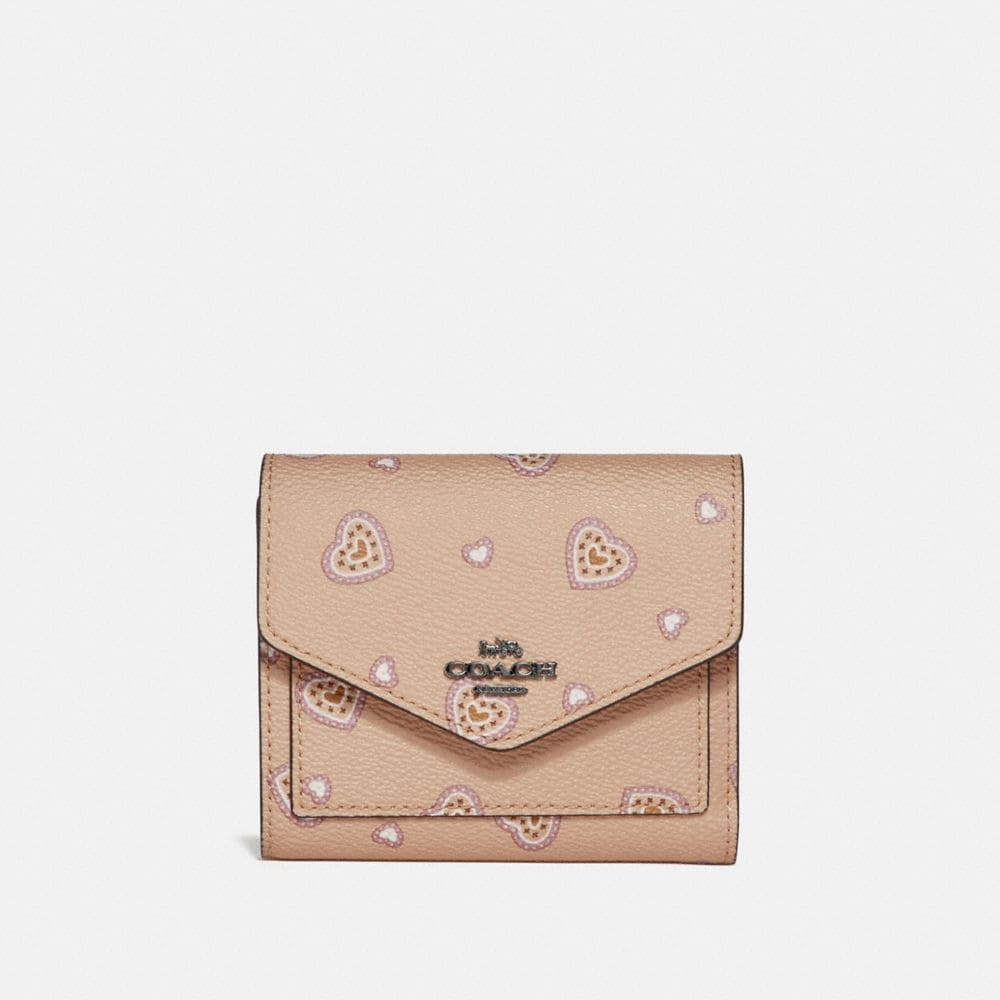 Coach Small Wallet With Western Heart Print