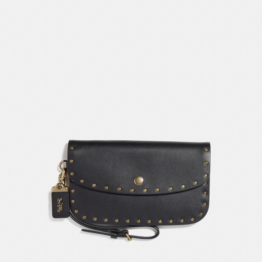 Coach Clutch With Rivets