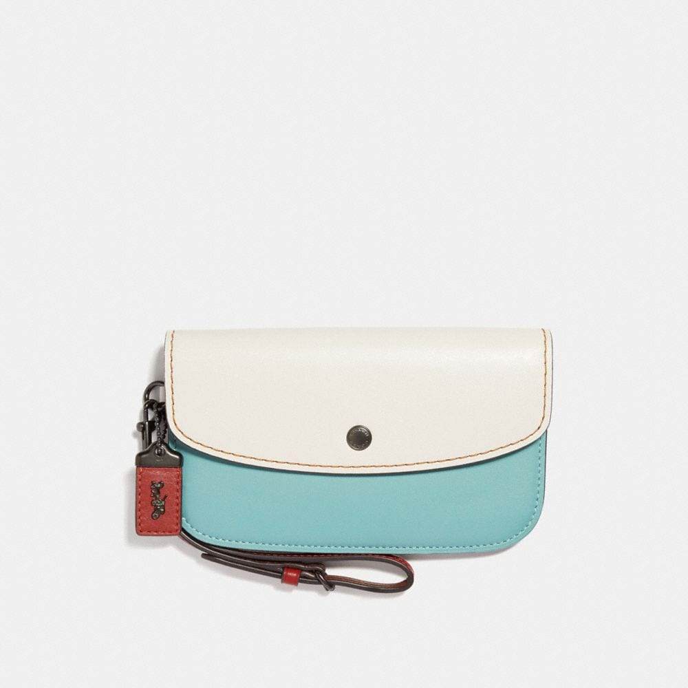 Coach Clutch in Colorblock