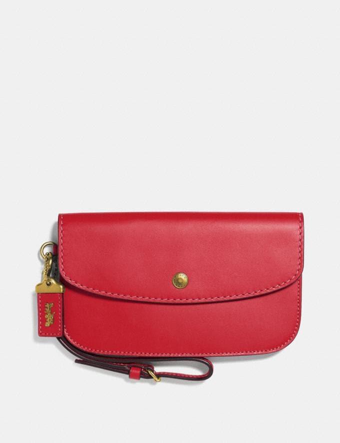 Coach Clutch Jasper/Brass Women Bags Clutches