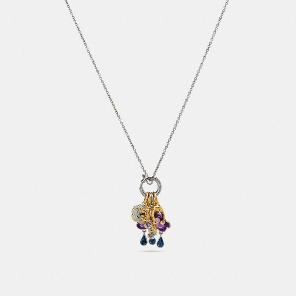 Coach Cloud And Rainbow Necklace Multi/silver