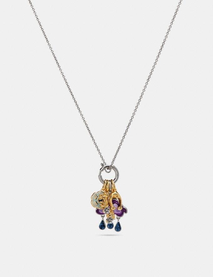 Coach Cloud and Rainbow Necklace Multi/Silver Women Accessories Jewellery Necklaces